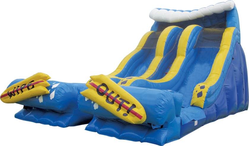 20' Wipeout Dual Lane Slide
