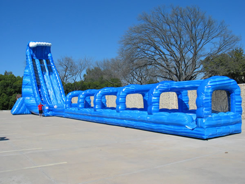 36' Blue Crush Dual Lane Water Slide