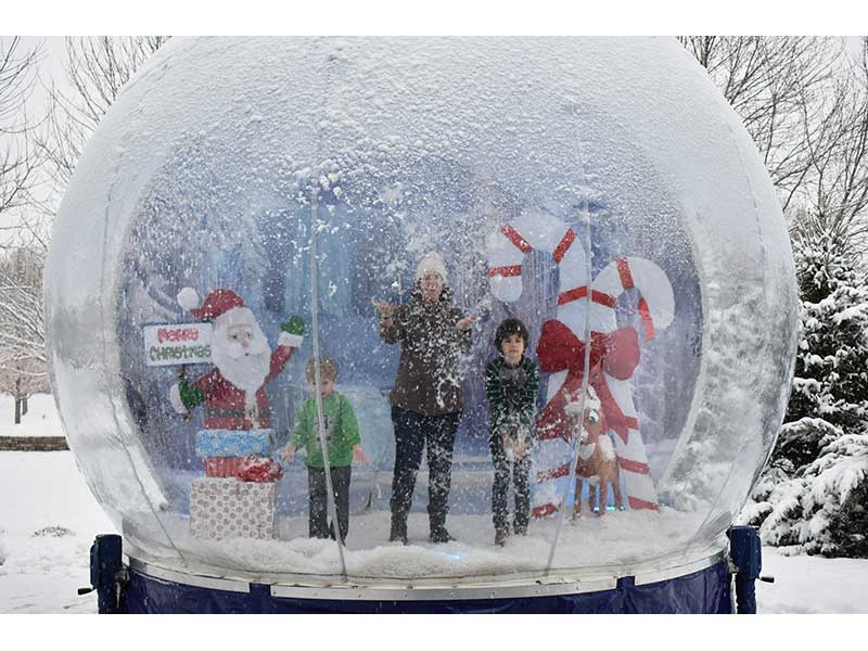 Winter Human Snow Globe